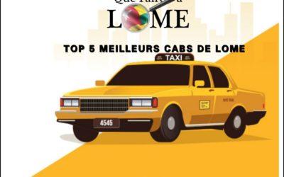 TOP 5 MEILLEURS CABS DE LOME